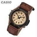 【メール便送料無料】CASIO(カシオ) FORESTER/フォレスター FT-500WC-5B/FT500WC-5B ミリタリーテイストナイロンベルト ブラウン キッズ・子供 かわいい! メンズウォッチ チープカシオ 腕時計