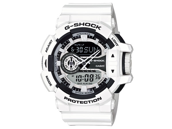 CASIO G-SHOCK(カシオ Gショック) GA-400-7A/GA400-7A HYPER COLORS/ハイパーカラーズ アナデジ  ホワイト 腕時計 (日本版型番:GA-400-7AJF/GA400-7AJF) 【無料ラッピング・弊社一年保証】
