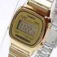 【箱無し品】CASIO(カシオ) LA-670WGA-9/LA670WGA-9 シンプルデジタル ゴールド イエロー キッズ・子供 かわいい! レディースウォッチ チープカシオ 腕時計