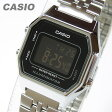 CASIO(カシオ) LA-680WA-1B/LA680WA-1B ベーシック デジタル ブラック×シルバー キッズ・子供 かわいい! レディースウォッチ チープカシオ 腕時計