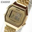 CASIO(カシオ) LA-680WGA-9/LA680WGA-9 スタンダード デジタル オールゴールド キッズ・子供 かわいい! レディースウォッチ チープカシオ 腕時計