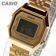 CASIO(カシオ) LA-680WGA-9B/LA680WGA-9B スタンダード デジタル ゴールド キッズ・子供 かわいい! レディースウォッチ チープカシオ 腕時計