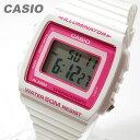 CASIO(カシオ) W-215H-7A2/W215H-7A2 ベーシック デジタル ホワイト×ピンクインデックス キッズ・子供 かわいい! メンズウォッチ チープカシオ 腕時計