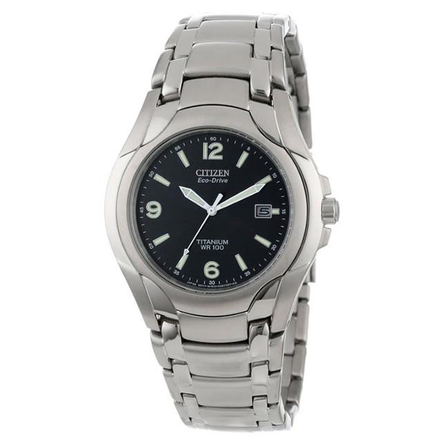 CITIZEN (シチズン) BM6060-57F EcoDrive/エコドライブ ソーラー チタン採用 ブラックダイアル チタニウム メタルベルト 腕時計