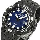 CITIZEN(シチズン) BN0095-59L Eco-Drive/エコドライブ ソーラークォーツ ダイバーズ ブルー文字盤 ブラックPVD ステンレス/SS メンズウォッチ 腕時計