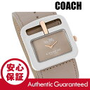 COACH (コーチ) 14502321 Duffle/ダッフル ベージュ レザーベルト ゴールド×シルバー レディースウォッチ 腕時計