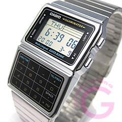 CASIO DATA BANK(卡西歐數據庫)DBC-611-1/DBC611-1電視筆記計算機/計算器銀子男女兩用表手表