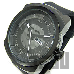 Rubber belt black casual watch is DZ1262 DIESEL (diesel)