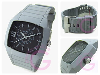 DIESEL (diesel) DZ1329 grey rubber Unisex Watch watches