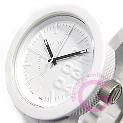 DIESEL (diesel) DZ1436-all white rubber casual mens watch salediesel