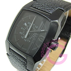 DIESEL (diesel) DZ1448 face line leather belt black mens watch