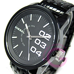 DIESEL (diesel) DZ1523 plastic belt black men watch watch