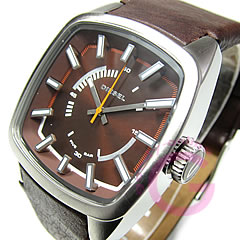 DIESEL (diesel) DZ1528 leather belt Brown casual men's watch
