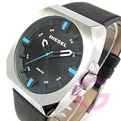 DIESEL (diesel) DZ1545 leather belt casual men's watch