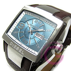 DIESEL (diesel) DZ4246 square leather belt casual men's watch