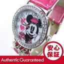 Disney (ディズニー) MIN152 MICKEY/ミッキーマウス ミニーマウス アナログ ストーン装飾 ピンクベルト キッズ・子供 かわいい! レディー...