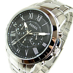 FOSSIL ( fossil ) FS4736 GRANT / grant chronograph metal belt black casual men's watch