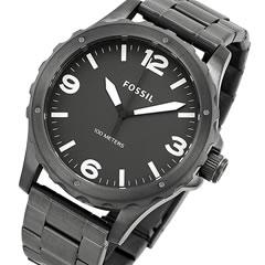 FOSSIL (フォッシル) JR1457 Nate/ネイト メタルベルト ブラック メンズウォッチ 腕時計  【郵便配送で送料無料★当店保証付】