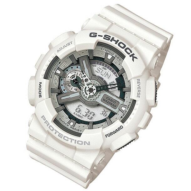 CASIO G-SHOCK(カシオ Gショック) GA-110C-7A/GA110C-7A モノトーン ホワイト アナデジ メンズウォッチ 腕時計【対応】 【無料ラッピング・弊社一年保証】