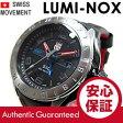 LUMINOX(ルミノックス) 5127 SXC Series GMT ミリタリー ブラック×シルバー レザーベルト メンズウォッチ 腕時計