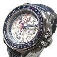 LUMINOX(ルミノックス) 9273 ロッキードマーティン F-22 RAPTOR/ラプター レザーベルト ミリタリー シルバー×ブルー メンズウォッチ 腕時計