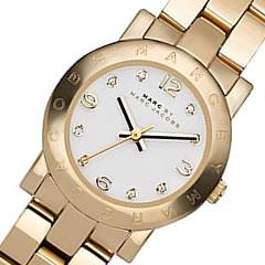 MARC BY MARC JACOBS (マーク バイ マークジェイコブス) MBM3057 Small Amy/スモール アミー メタルベルト ゴールド レディースウォッチ 腕時計 【無料ラッピング・弊社一年保証】疑わしい