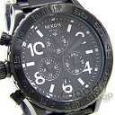 42-20 NIXON (Nixon) THE Chrono SS A037-001/A037001 ALL BLACK/ black chronograph men watch [easy ギフ _ packing choice]