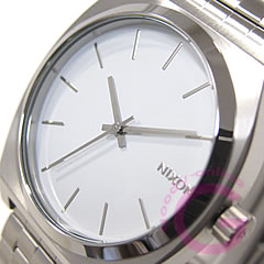 NIXON THE TIME TELLER (Nixon time teller p) A045-100/A045100 SS white men's watch