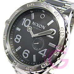NIXON THE 51-30 Tide SS A057-487/A057487 high Polish black 300 m water resistant watch