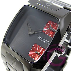 BANKS in NIXON (Nixon banks) A060-131/A060131 gunmetal watch