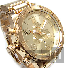 51-30 (Nixon) NIXON THE CHRONO A083-502/A083502 chronograph 300m waterproofing All Gold/ oar gold men watch watch watch