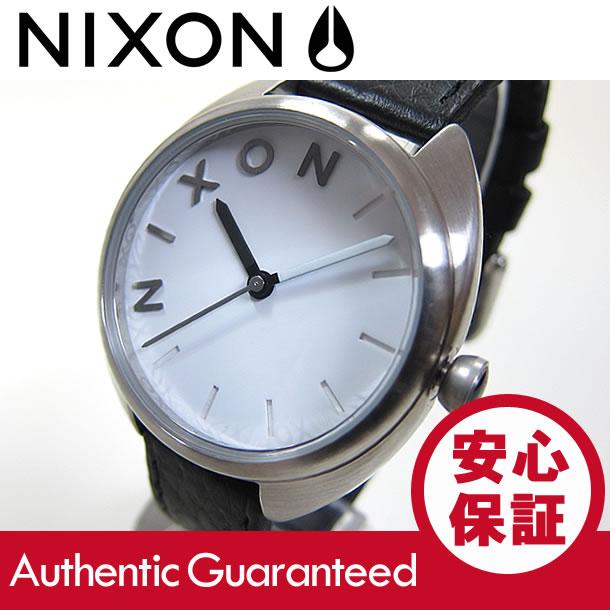 NIXON (ニクソン) A318-100/A318100 THE WIT/ウィット レザーベルト ブラック×シルバー レディースウォッチ 腕時計 【対応】 【無料ラッピング・弊社1年保証】