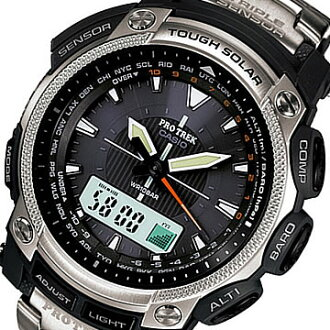 CASIO PROTREK ( Casio protrek ) PRG-505T-7/PRG 505T-7 triple sensor tough solar powered whole Titan belt outdoor watches