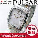 SEIKO PULSAR (セイコー パルサー) PVK087 ゴールド×シルバー ツートーン ブレスレット メタルベルト メンズウォッチ 腕時計 【あす楽対応】