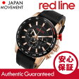 RED LINE(レッドライン) 300-RG-01-BB Fastrack/ファストトラック クロノグラフ ラバーベルト ブラック×ゴールド メンズウォッチ 腕時計