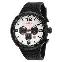 RED LINE (レッドライン) 50057-BB-02S APEX12 クロノグラフ ラバーベルト ブラック×ホワイト メンズウォッチ 腕時計【あす楽対応】
