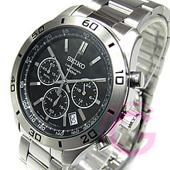 Metal belt /SS Black Watch chronograph SEIKO ( Seiko ) SSB049P1