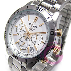 SEIKO ( Seiko ) SSB051P1 chronograph metal belt /SS Silver / Gold duo men's watch