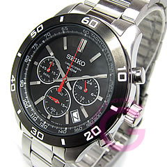 Metal belt /SS Black Watch chronograph SEIKO ( Seiko ) SSB053P1