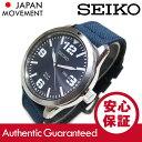 SEIKO(セイコー) SNE329 SOLAR/ソーラー キャンバスベルト ネイビー メンズウォッチ ミリタリー 腕時計【あす楽対応】
