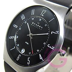 Ultra slim leather belt watch SKAGEN ( Skagen ) 233 XXLSLB