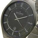 SKAGEN(スカーゲン) 801XLTXM ウルトラスリム チタンベルト ブラック メンズウォッチ 腕時計