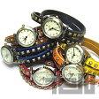 【T2N アンティーク調・アンティーク風 レトロ 腕時計】 T2N-W011シリーズ 全6カラー ラップブレス レザーベルト レディースウォッチ 【あす楽対応】