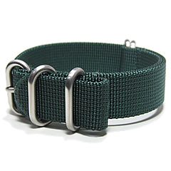 T2N Strap (T2N strap) PT20Z-5DGR 5RING Bali stick nylon strap band dark green substitute belt military watch business
