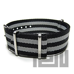 T2N Strap (T2N strap) PT22NT-4GY2 Bali stick nylon NATO nylon strap gray bond stripe substitute belt watch business