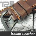 【22MM 140-180MM】 T2N Strap (T2Nストラップ) T2N-1137PVB イタリアンレザーベルト ヴィンテージ クラシック ブラウン 替え ストラップ 腕時計用【あす楽対応】
