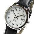 Timex (タイメックス) T2H281 CLASSICS/クラシック ブラック×シルバー レザーベルト ユニセックスウォッチ 腕時計