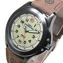 Timex (タイメックス) T47012 Expedition Metal Field/エクスペディション メタル フィールド レザーベルト ブラック×グリー...