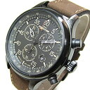 TIMEX(タイメックス) T49905 Field Chronograph/フィールド クロノグラフ レザーベルト ミリタリー メンズウォッチ 輸入品 腕時計