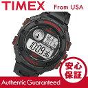 【メール便送料無料】Timex (タイメックス) T49980 Expedition/エクスペディション バイブレーションアラーム デジタル ラバーベルト ブラック×レッド メンズウォッチ 腕時計